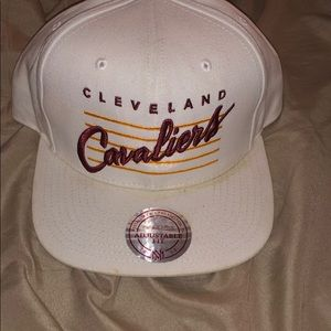 All white Cleveland cavaliers hat!